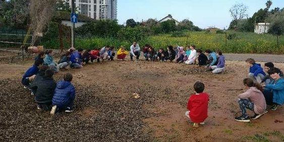 """חינוך וולדורף - בית ספר תמר, הוד השרון: תקופת """"אדם חיות"""" בכיתה ד'"""